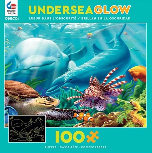 Undersea Glow in the dark puzzle 100pc