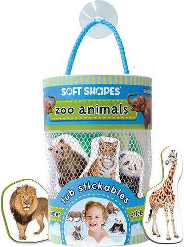 Soft Shapes Tub Stickables: Zoo Animals