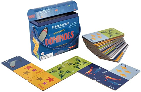 Floss & Rock Double Sided (Reversible) Dominoes - Deep Sea