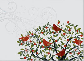 Deluxe Boxed Christmas Cards: Festive Birds