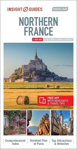Insight Guides Travel Map Northern France