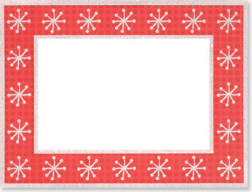 Photo Frame Christmas Cards: Dots & Snowflakes