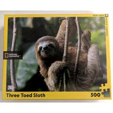 National Geographic - Three Toed Sloth 500pc Puzzle