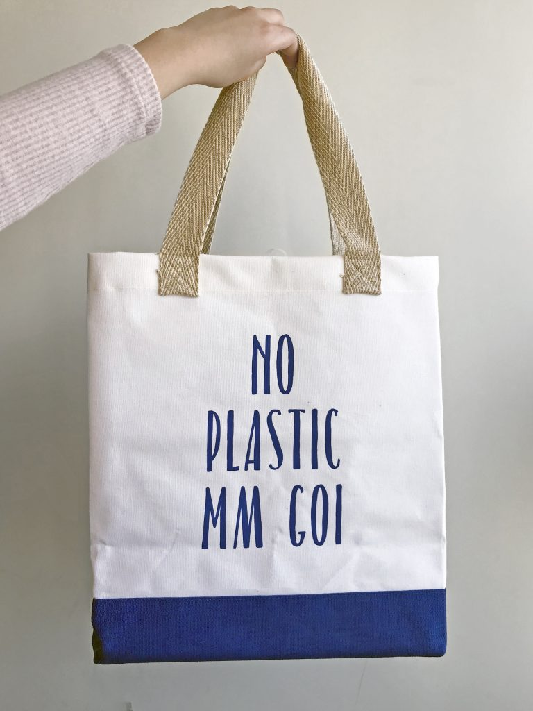No Plastic Mm Goi Canvas Bag