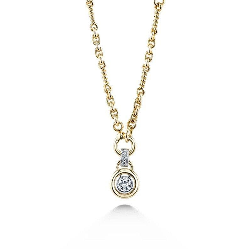 Round Brilliant Cut Diamond Necklace