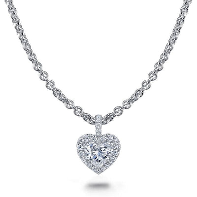 Heart Shaped Diamond Necklace