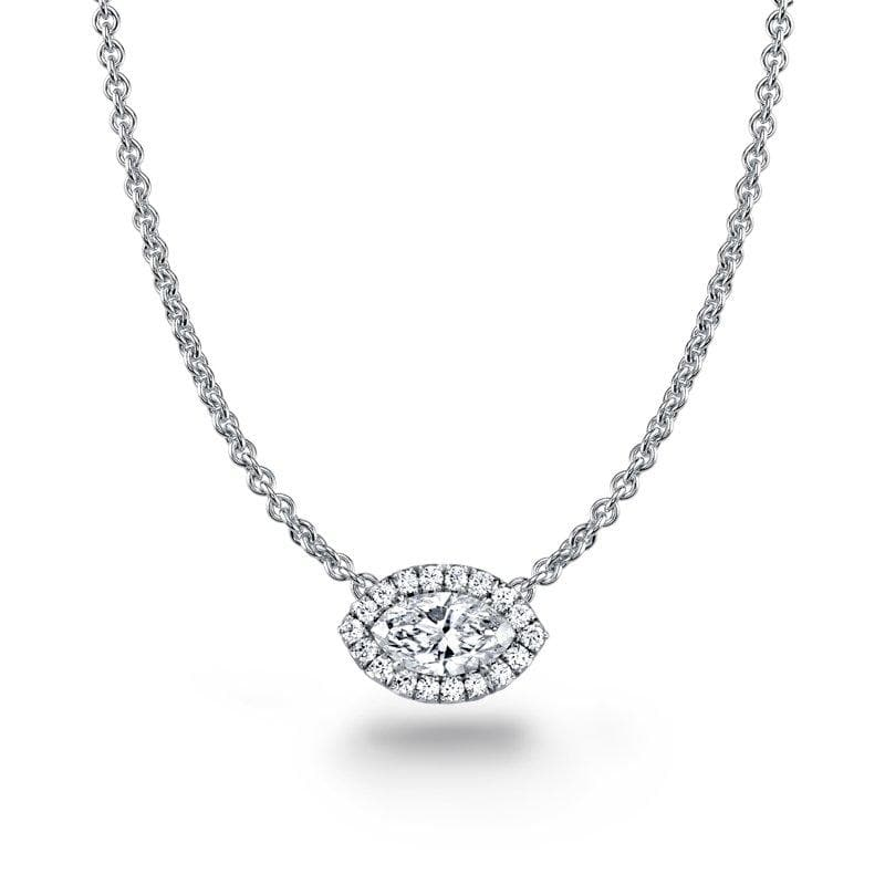Marquise Cut Diamond Necklace