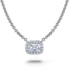 Emerald Cut Diamond Necklace