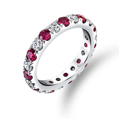 Diamond & Ruby Eternity Band