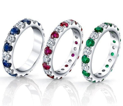 Diamond & Emerald Eternity Band