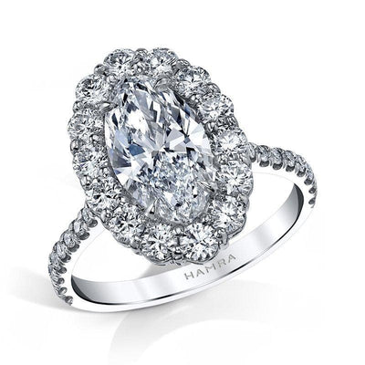 Moval Shaped Diamond Ring