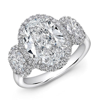 Oval Shaped Diamond Ring