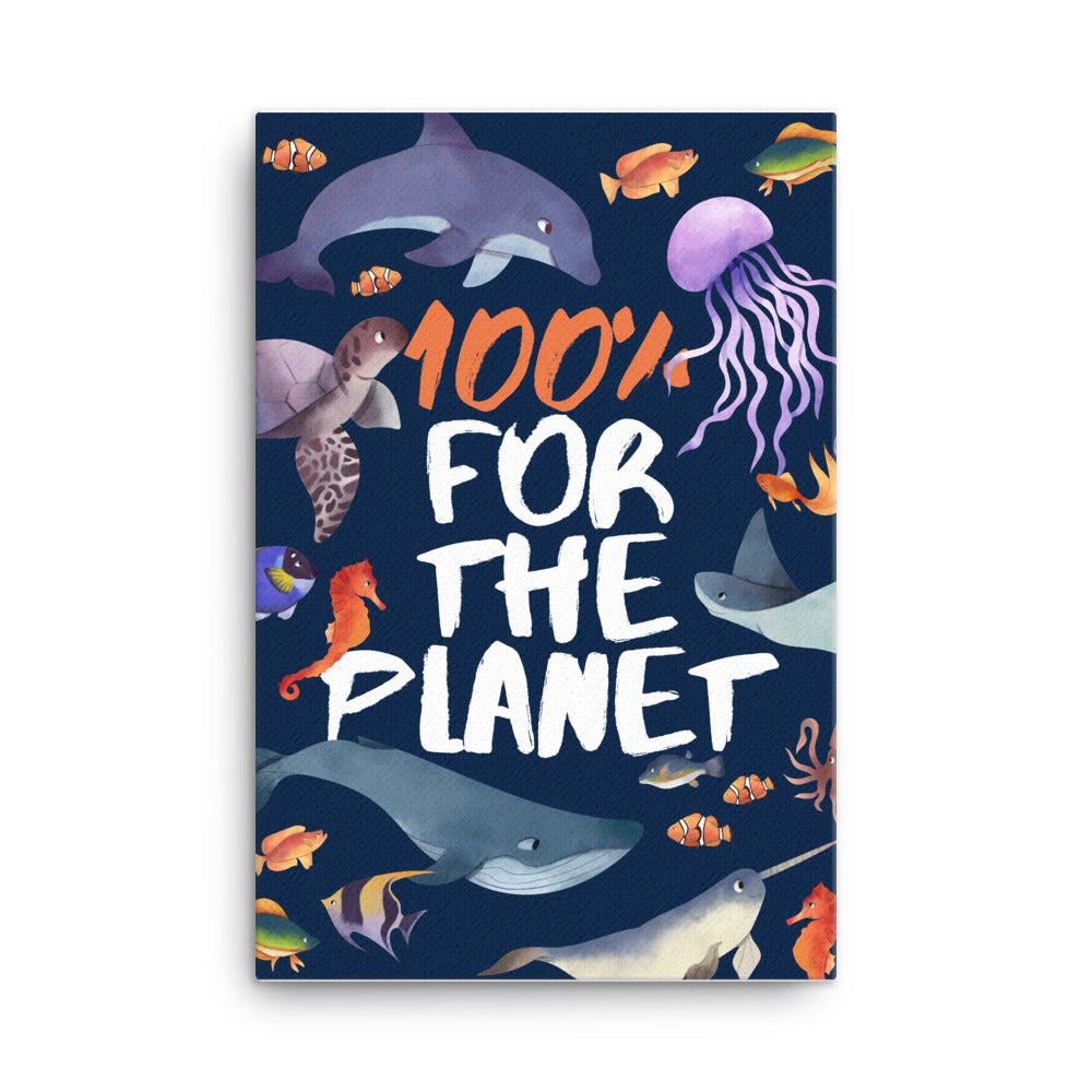 100% For The Planet Canvas