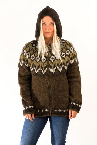 Fisherman Cardigan w/Hood