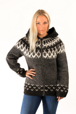Skipper Cardigan w/Hood Grey