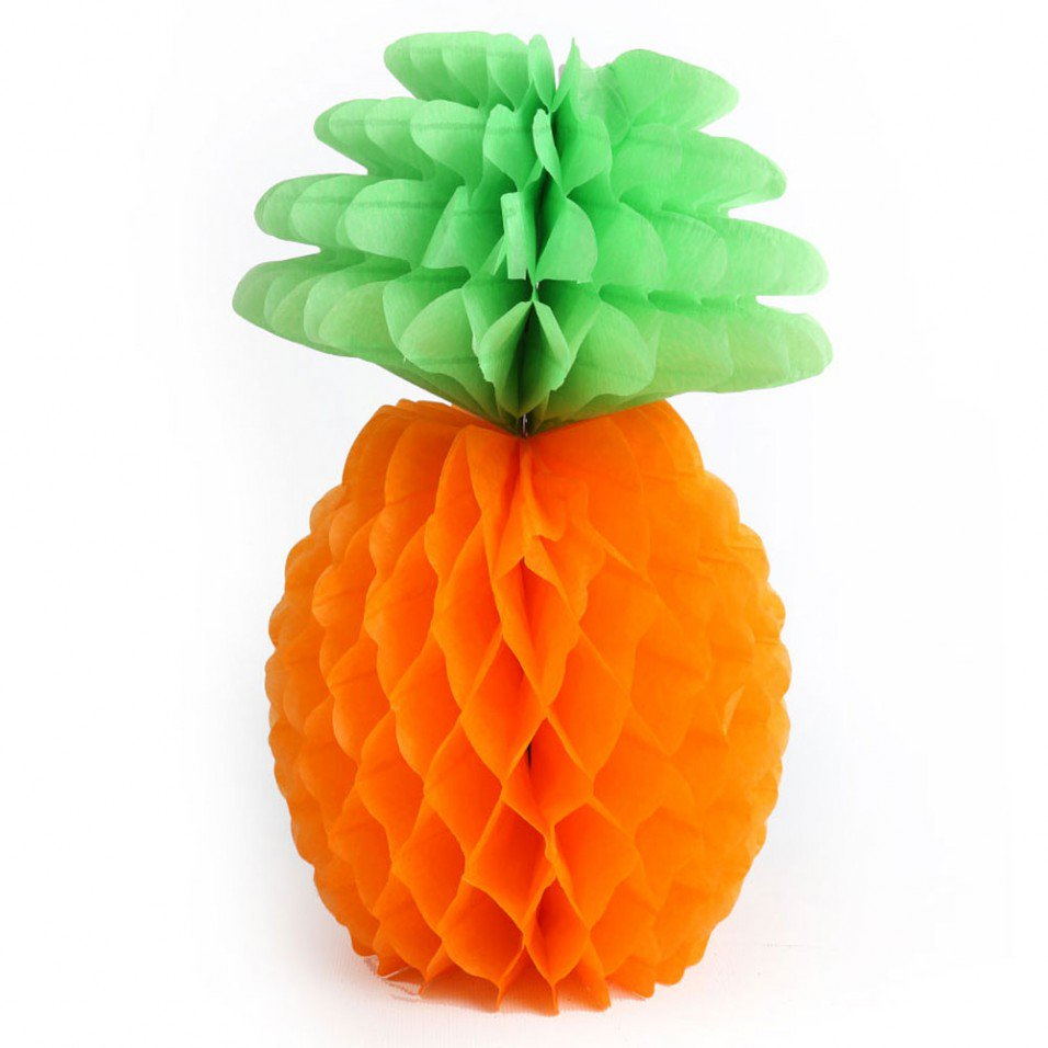Paper Honeycomb Pineapple Decoration
