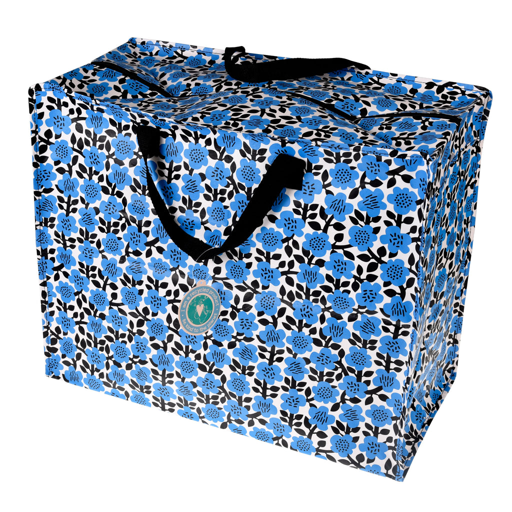 Blue Astrid Flower Supa Big Storage Bag