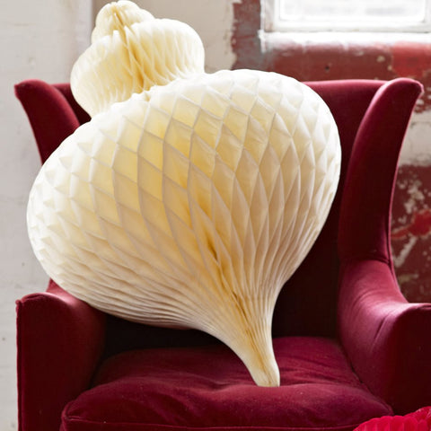 Giant Paper Honeycomb Bauble Decoration - Cream