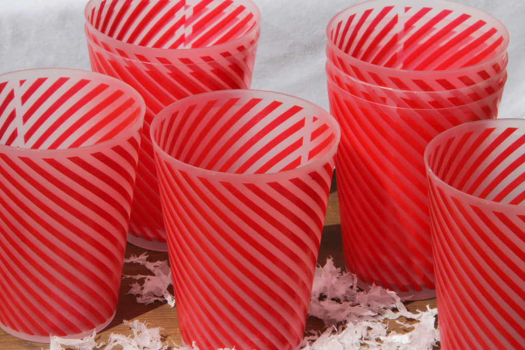 Set of 8 Candy Stripe Beakers