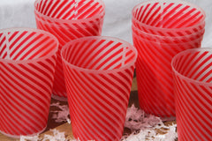 THREE SETS OF 8 Candy Stripe Beakers