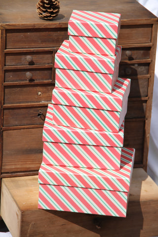 Set of Five Striped Gift Boxes