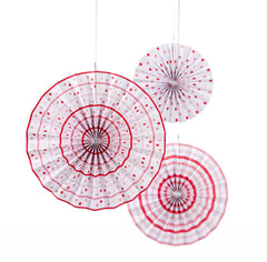 Paper Pinwheel Fan Decorations - Set of 3 - Candy