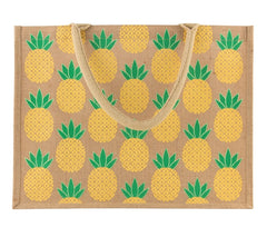 Pineapple Handy Jute Shopping Bag