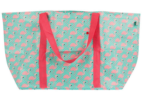Pink Flamingo Handy Shopping Bag