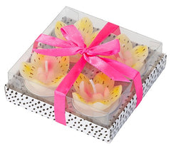 THREE SETS of Pretty Lily Tealight Candles
