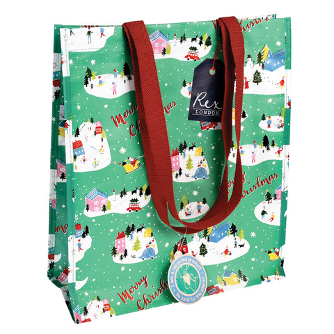 Christmas Wonderland Handy Shopping Bag