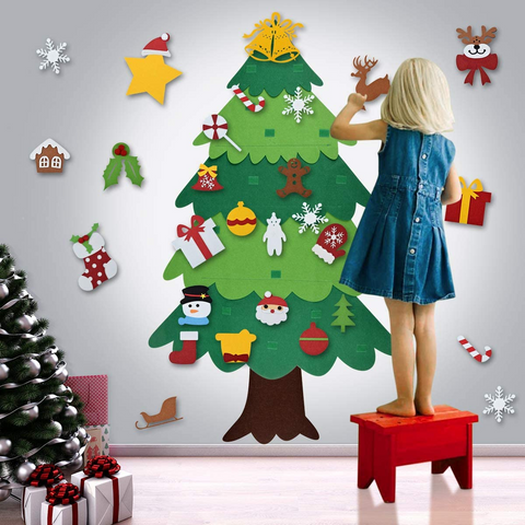 Best Gift For Children-Felt Tree & Spare Ornaments Bundle