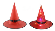 🔥HALLOWEEN Decorations Glowing Witch Hat Decorations 2 in 1 Hanging/Wearable 🔥