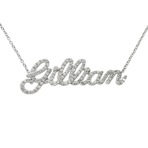 Shiny Custom Diamond Name Necklace