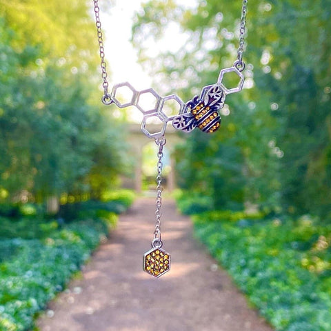 Bee Honeycomb Necklace