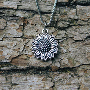 Vintage Sunflower Necklace