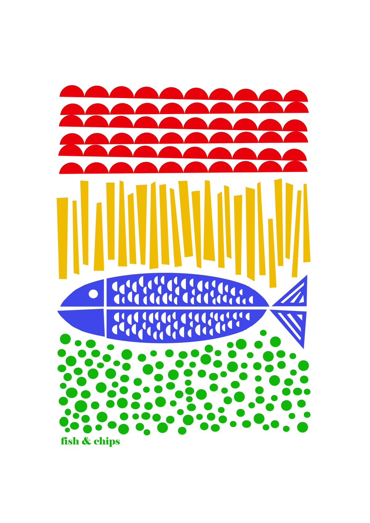 Fish and Chips Screen Print