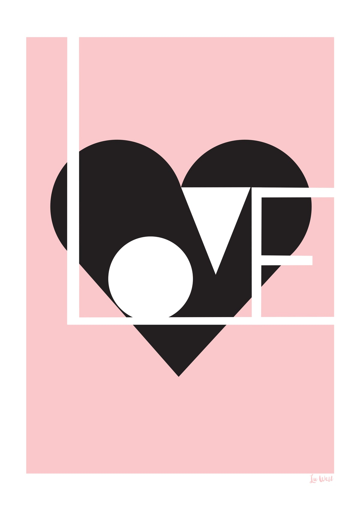 Love print (rose blush) - framing available