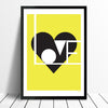 Love print (lemon) - framing available
