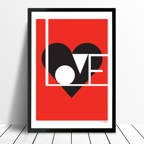 Love print (red) - framing available