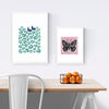 Graphic illustrated black butterfly with on trend pastel powder pink. The sugary hue of this limited edition art print will add romantic charm to your space.