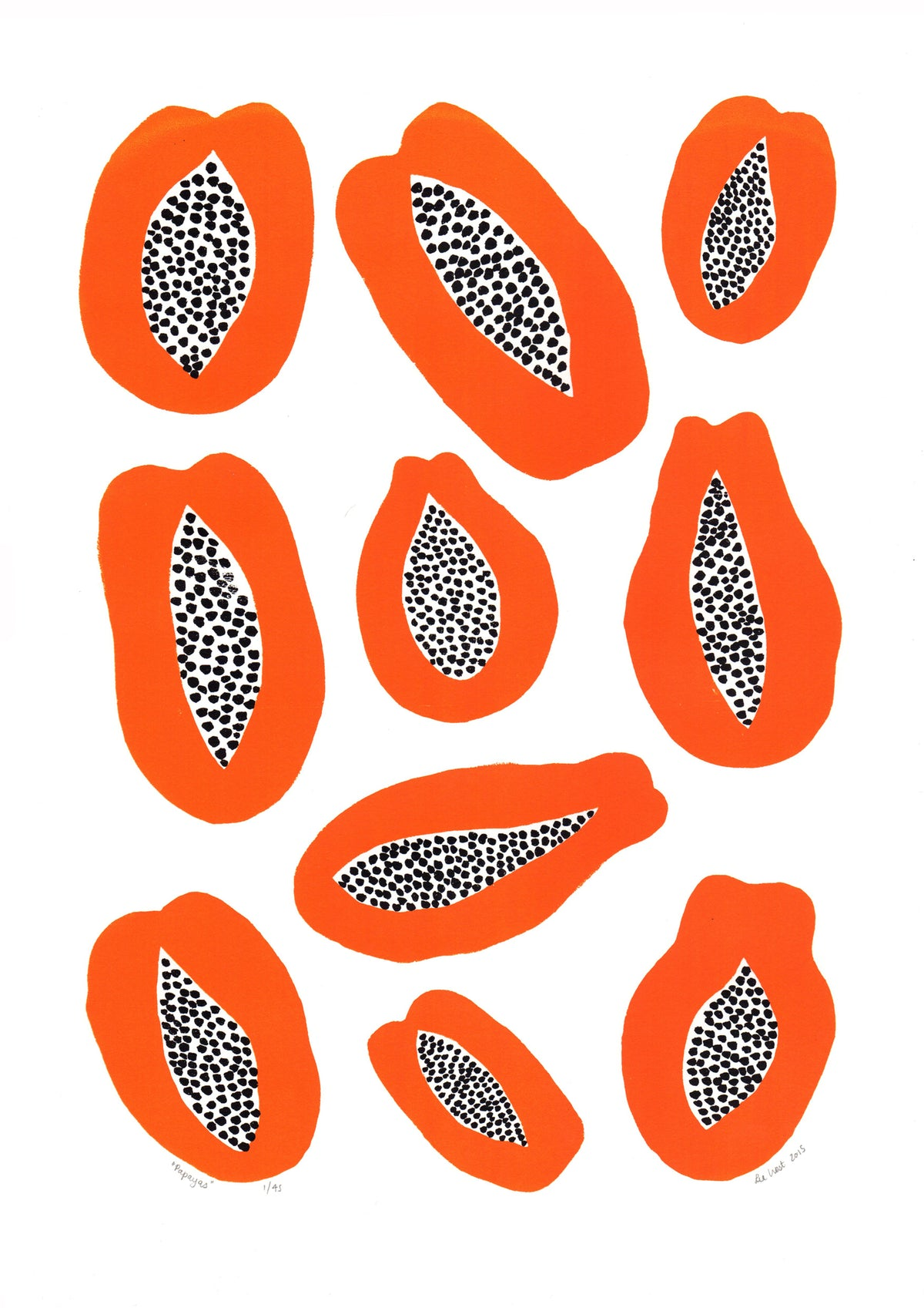 Papayas Screen Print in Burnt Orange