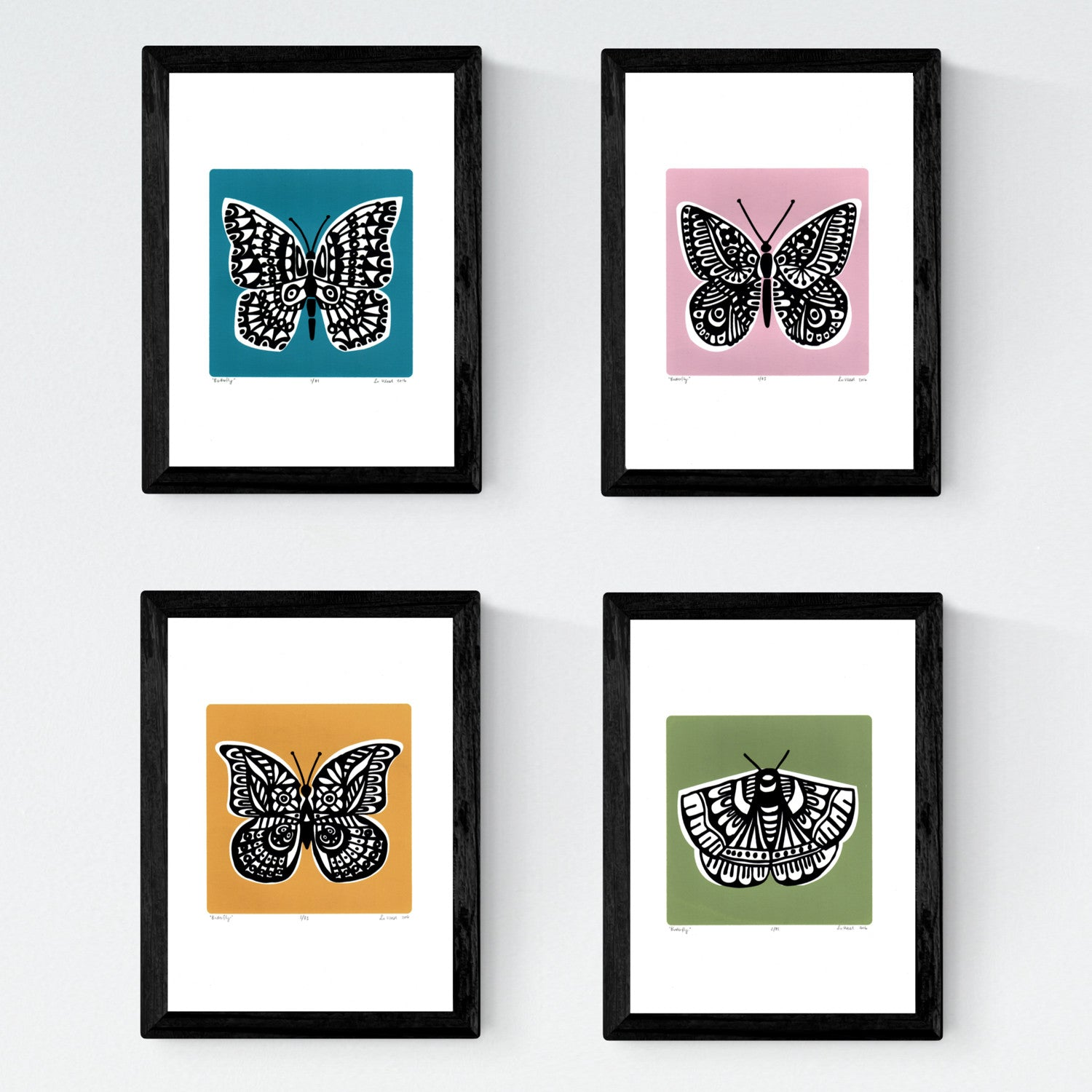 Set of 4 Framed \