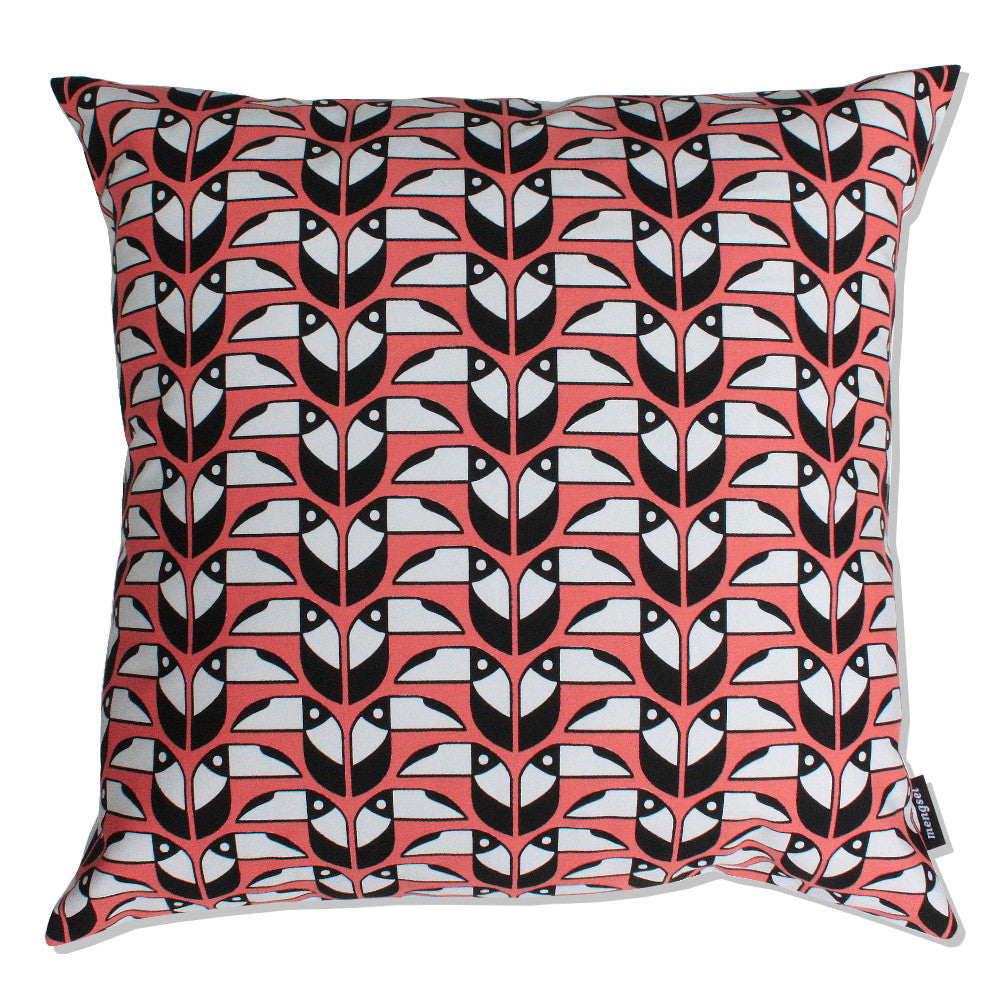 Toucans cushion  CLEARANCE