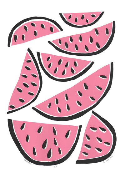 Watermelons Screen Print in Pink