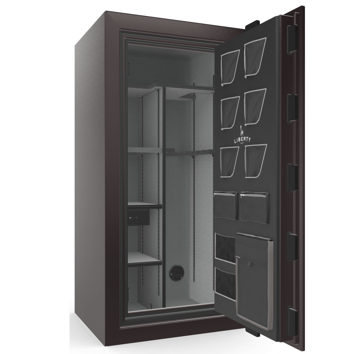 "Classic Plus | 25 | Level 7 Security | 110 Minute Fire Protection | Black Cherry Gloss | Black Electronic Lock | 60.5""(H) x 30""(W) x 29""(D)"