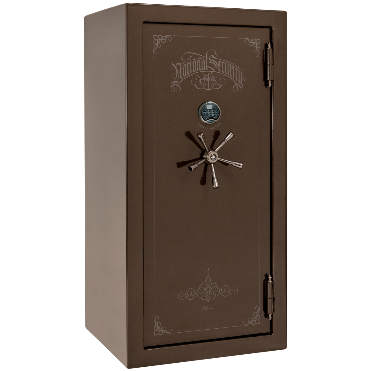 "Classic Plus | 25 | Level 7 Security | 110 Minute Fire Protection | Bronze Gloss | Black Electronic Lock | 60.5""(H) x 30""(W) x 29""(D)"