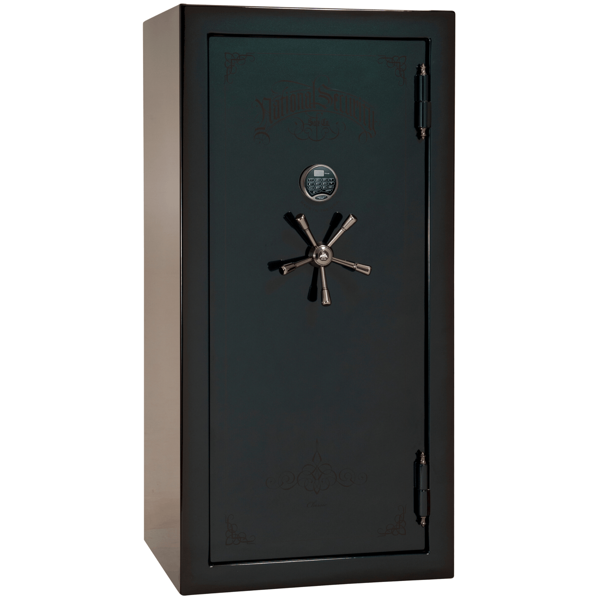 "Classic Plus | 25 | Level 7 Security | 110 Minute Fire Protection | Green 2-Tone | Black Electronic Lock | 60.5""(H) x 30""(W) x 29""(D)"