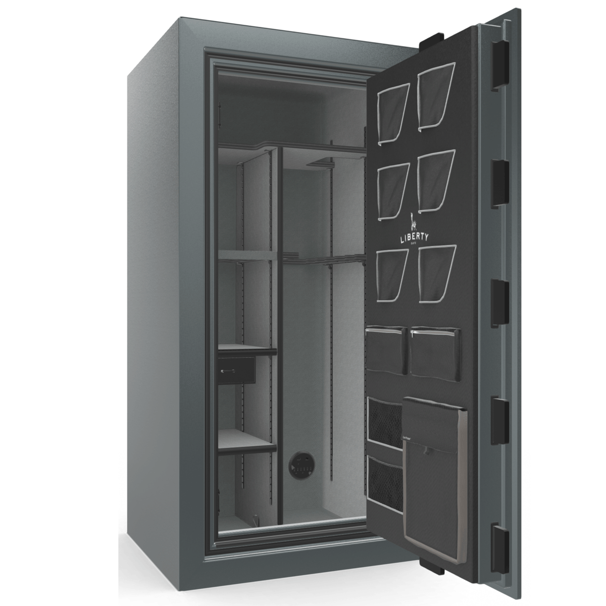 "Classic Plus | 25 | Level 7 Security | 110 Minute Fire Protection | Forest Mist Gloss | Black Mechanical Lock | 60.5""(H) x 30""(W) x 29""(D)"