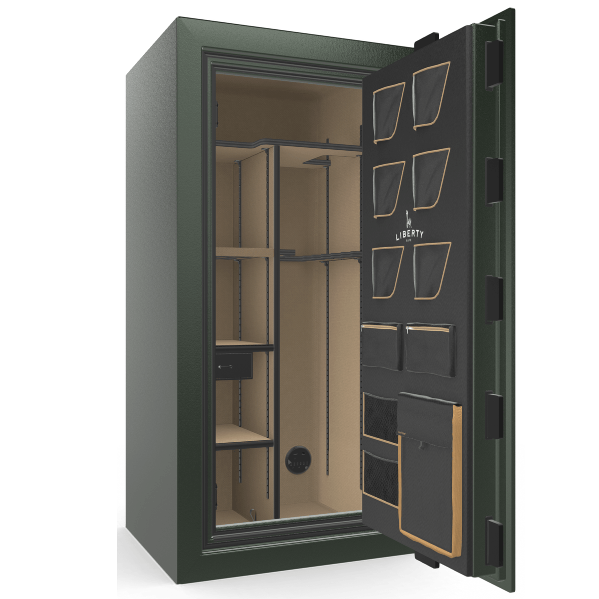 "Classic Plus | 25 | Level 7 Security | 110 Minute Fire Protection | Green | Brass Mechanical Lock | 60.5""(H) x 30""(W) x 29""(D)"