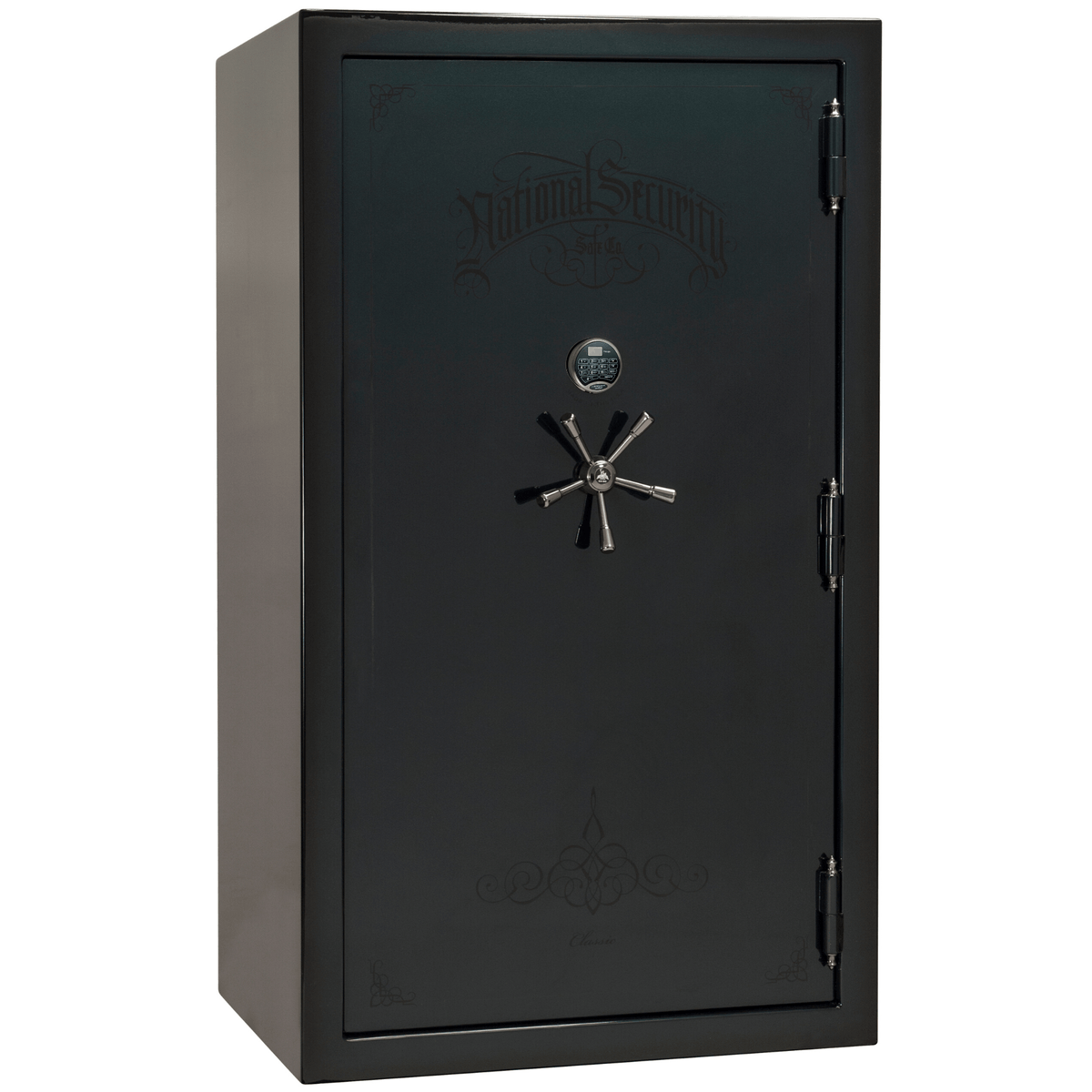 "Classic Plus | 50 | Level 7 Security | 110 Minute Fire Protection | Green 2-Tone | Black Electronic Lock | 72.5""(H) x 42""(W) x 32""(D)"